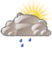 Mostly cloudy with drizzle