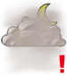 Mostly cloudy with heavy fog